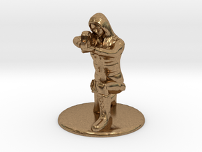 SG Female Soldier Crouched 35 mm new in Natural Brass