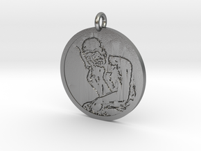 'The Vaper' Pendant in Natural Silver