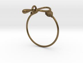 Anello Kobke Ghfghyjyuyuuuu in Natural Bronze (Interlocking Parts)