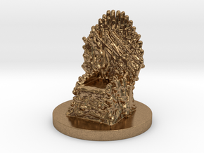 Game of Thrones Risk Piece Single - Iron Throne in Natural Brass