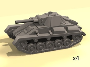 1/100 light tank model T-70 in White Strong & Flexible Polished