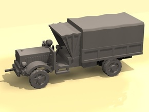 1/100 WW1 Light Truck with tent in White Processed Versatile Plastic