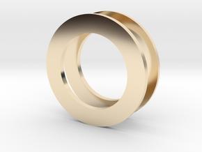 Fidget Spinner Tourus 2z Caps in 14k Gold Plated Brass