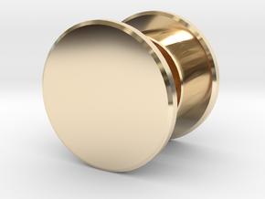 Fidget Spinner Tourus Center Caps in 14K Yellow Gold