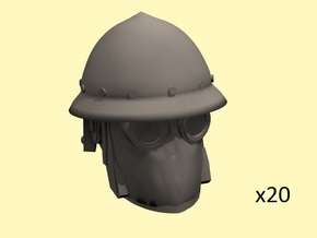 28mm steampunk Byzantian heads (20) in Smoothest Fine Detail Plastic