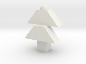Christmas tree in White Natural Versatile Plastic: Medium