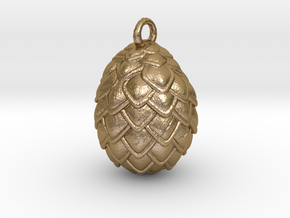 Dragon Egg Pendant in Polished Gold Steel