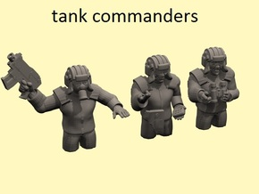 28mm (neo)Soviet tank commanders in Frosted Ultra Detail