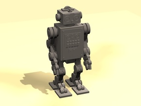 28mm Retro Robot 1  in Smooth Fine Detail Plastic