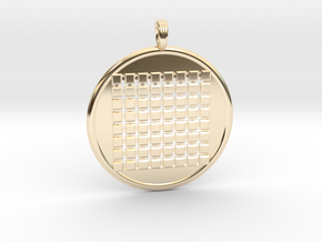 SIXTY-FOUR GRID GROUND in 14k Gold Plated Brass