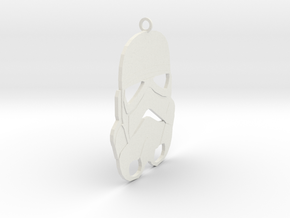 Storm Trooper Pendant in White Natural Versatile Plastic