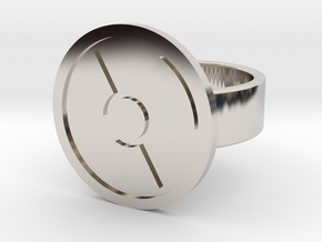 Radioactive Ring in Rhodium Plated Brass: 8 / 56.75