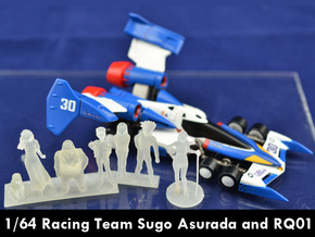 1/64 Racing Team Staff for Diorama in Smooth Fine Detail Plastic