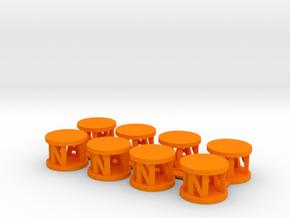 Alpha Pawns in Orange Processed Versatile Plastic