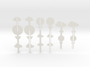 Cake Topper - Clouds & Balloon series in White Strong & Flexible