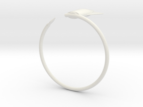 Cuttlefish bangle in White Natural Versatile Plastic: Small