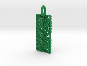 Dicot Leaf Anatomy Pendant in Green Processed Versatile Plastic
