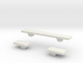 1/87 Lightbars #11 in White Natural Versatile Plastic