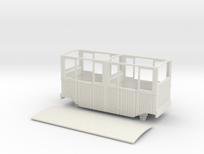 RH&DR 4 wheel coach with windows (09) in White Natural Versatile Plastic