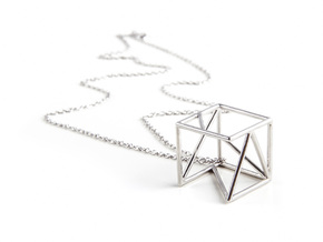 Tessellate Cube — DATA IN EXILE in Polished Silver