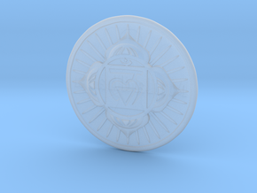 Root Chakra or Muladhara in Smooth Fine Detail Plastic