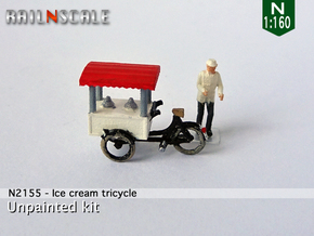 Ice cream tricycle (N 1:160) in Smoothest Fine Detail Plastic
