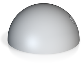 半圓.stl in White Natural Versatile Plastic: Small