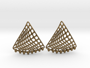 Baumann Swing Earrings in Natural Bronze (Interlocking Parts): Small