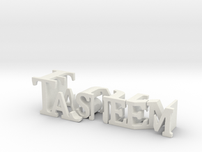 3dWordFlip: Tasneem/Fun in White Natural Versatile Plastic