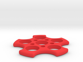 Fidget Spinner in Red Processed Versatile Plastic