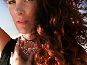 Metatron Grid Horizon Choker Pendant in Polished Silver