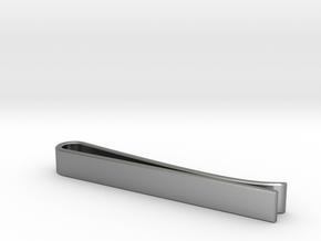 Beveled Edge Tie Clip - Classic Design in Natural Silver