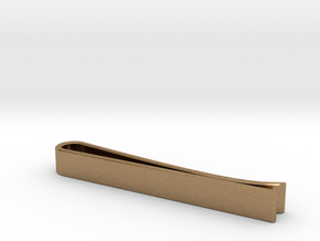 Beveled Edge Tie Clip - Classic Design in Natural Brass