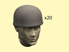 28mm Fallschirmjager helmets in Smoothest Fine Detail Plastic