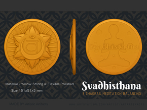Sacral Chakra or Svadhisthana in Orange Processed Versatile Plastic