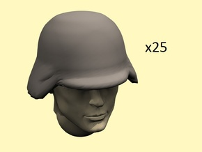 28mm WW1 German helmets in Frosted Extreme Detail