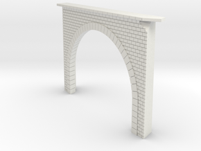 Portail tunnel biais in White Natural Versatile Plastic