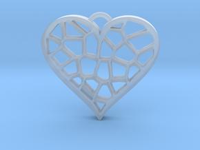 Heartcatcher Pendant in Smooth Fine Detail Plastic