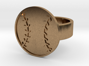 Baseball Ring in Natural Brass: 8 / 56.75