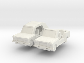 1/144 Trabant Kuebel in White Natural Versatile Plastic