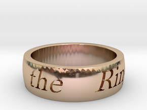 Lord of the Rings in 14k Rose Gold: 10 / 61.5