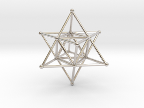 MERKABAH (figurine) in Rhodium Plated Brass