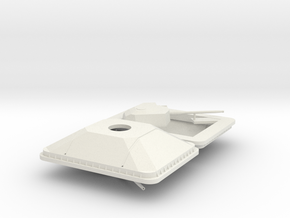 1/96 scale Mk44 Bushmaster II 30mm modular gun in White Natural Versatile Plastic