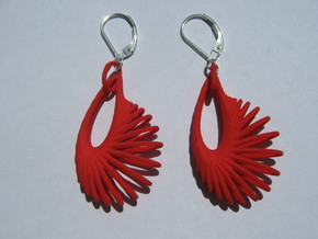 Forty Moebius Earrings in Red Strong & Flexible Polished