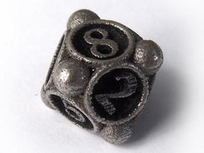 Spore Die8 in Polished Bronzed Silver Steel