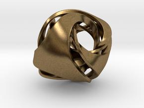 Pendant_Tetrahedron Twist No.1 in Natural Bronze