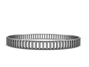 Gates - Minimal Silver Stackable Bracelet in Polished Silver: Medium