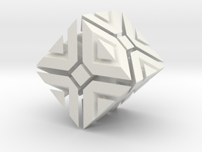 Fractal Cube in White Natural Versatile Plastic