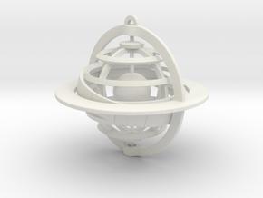 Celestial Globe in White Natural Versatile Plastic