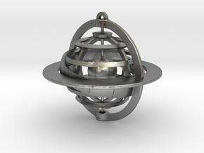 Celestial Globe in Natural Silver (Interlocking Parts)
